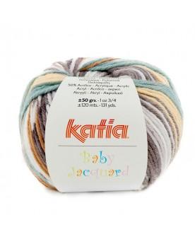 KATIA BABY JACQUARD 91 - AMARILLO ARENA-GRIS-VERDE BLANQUECINO